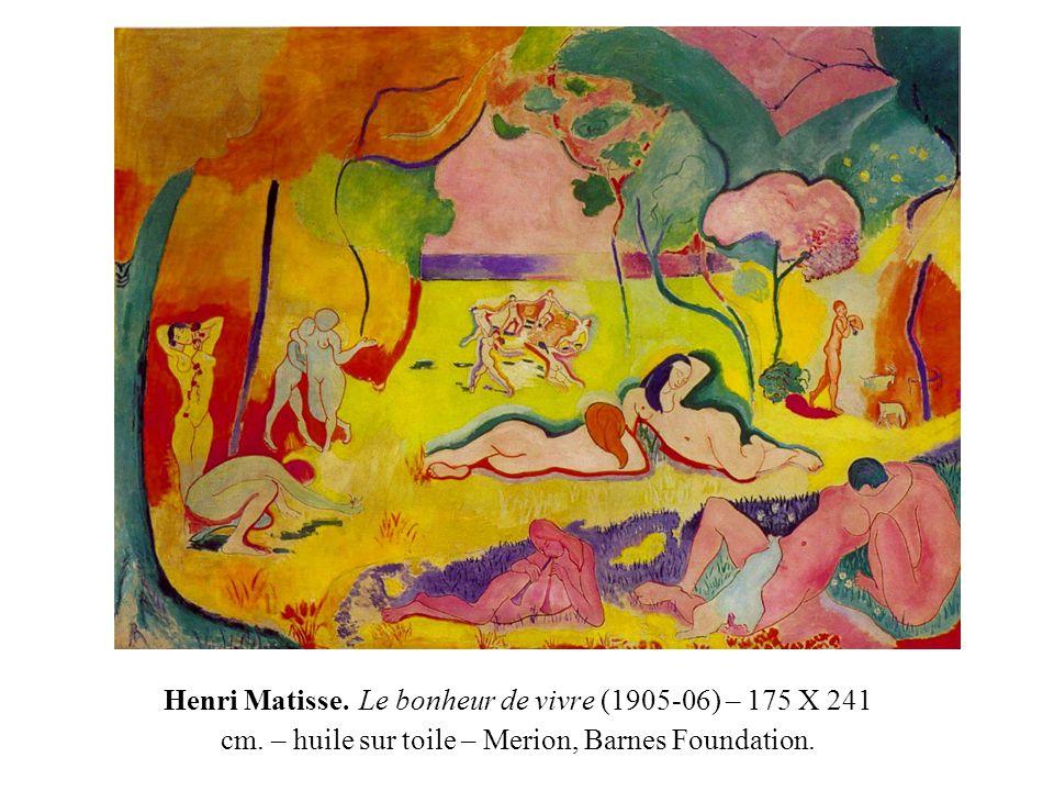 Henri Matisse. Le bonheur de vivre (1905-06) – 175 X 241 cm. – huile sur toile – Merion, Barnes Foundation.