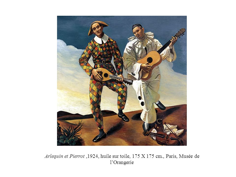Arlequin et Pierrot,1924, huile sur toile, 175 X 175 cm., Paris, Musée de lOrangerie