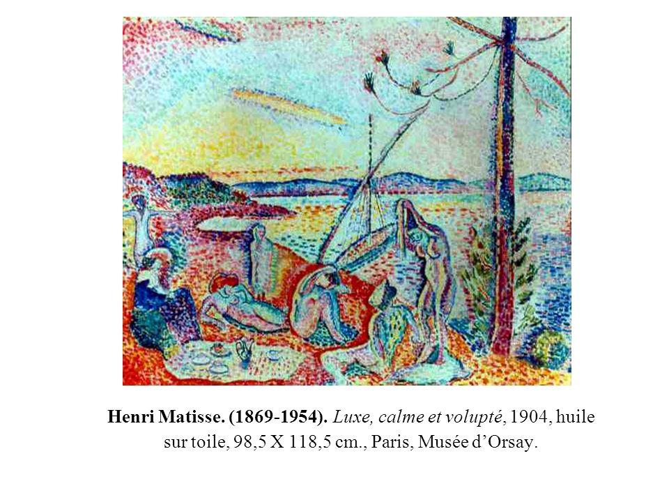Henri Matisse. (1869-1954). Luxe, calme et volupté, 1904, huile sur toile, 98,5 X 118,5 cm., Paris, Musée dOrsay.