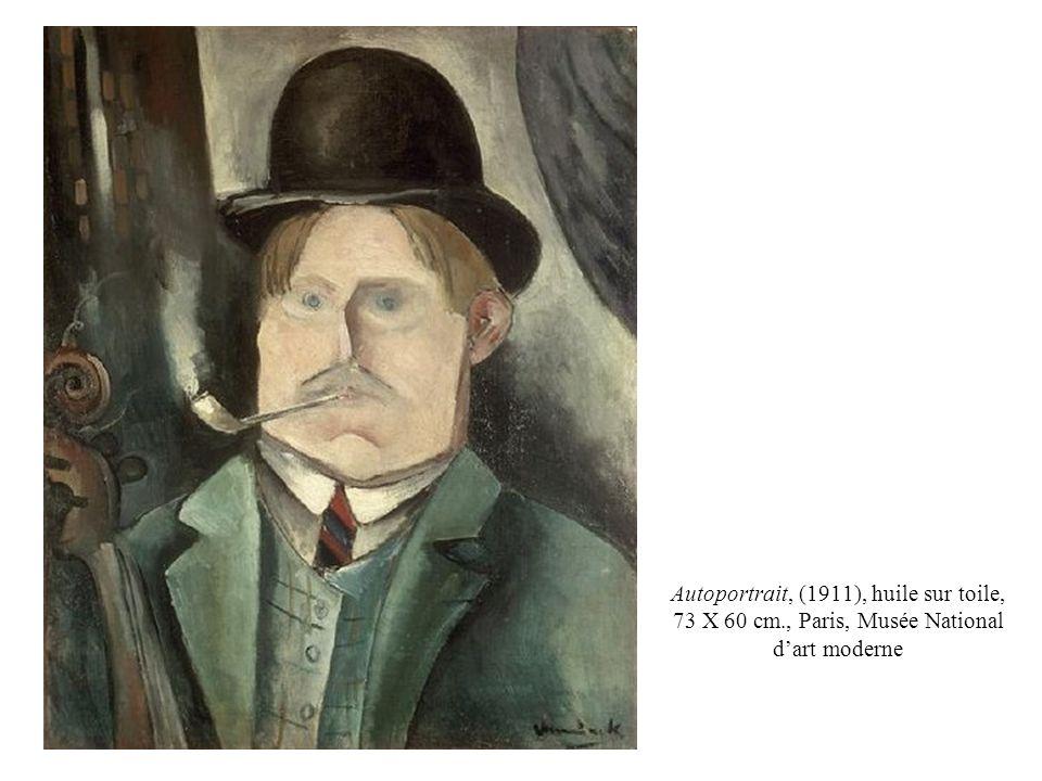 Autoportrait, (1911), huile sur toile, 73 X 60 cm., Paris, Musée National dart moderne
