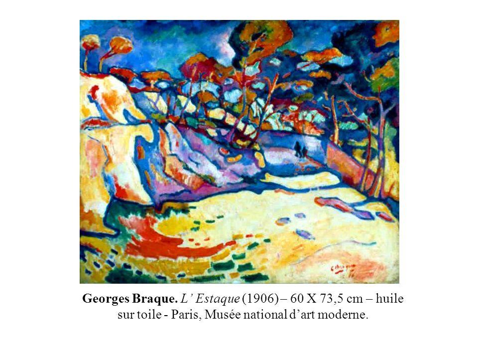 Georges Braque. L Estaque (1906) – 60 X 73,5 cm – huile sur toile - Paris, Musée national dart moderne.