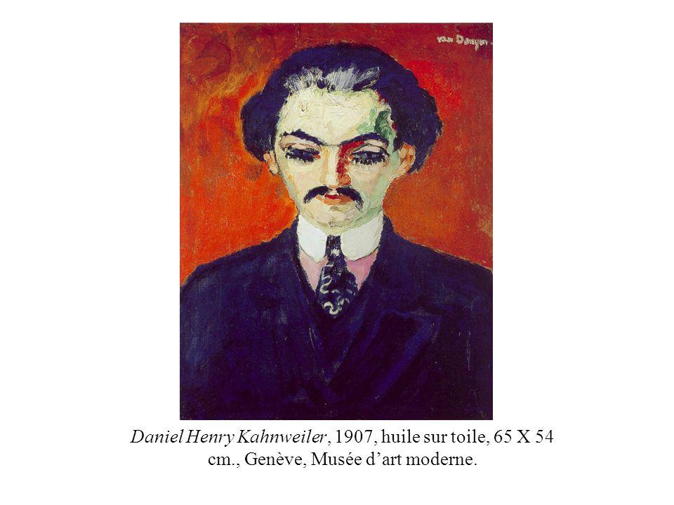 Daniel Henry Kahnweiler, 1907, huile sur toile, 65 X 54 cm., Genève, Musée dart moderne.