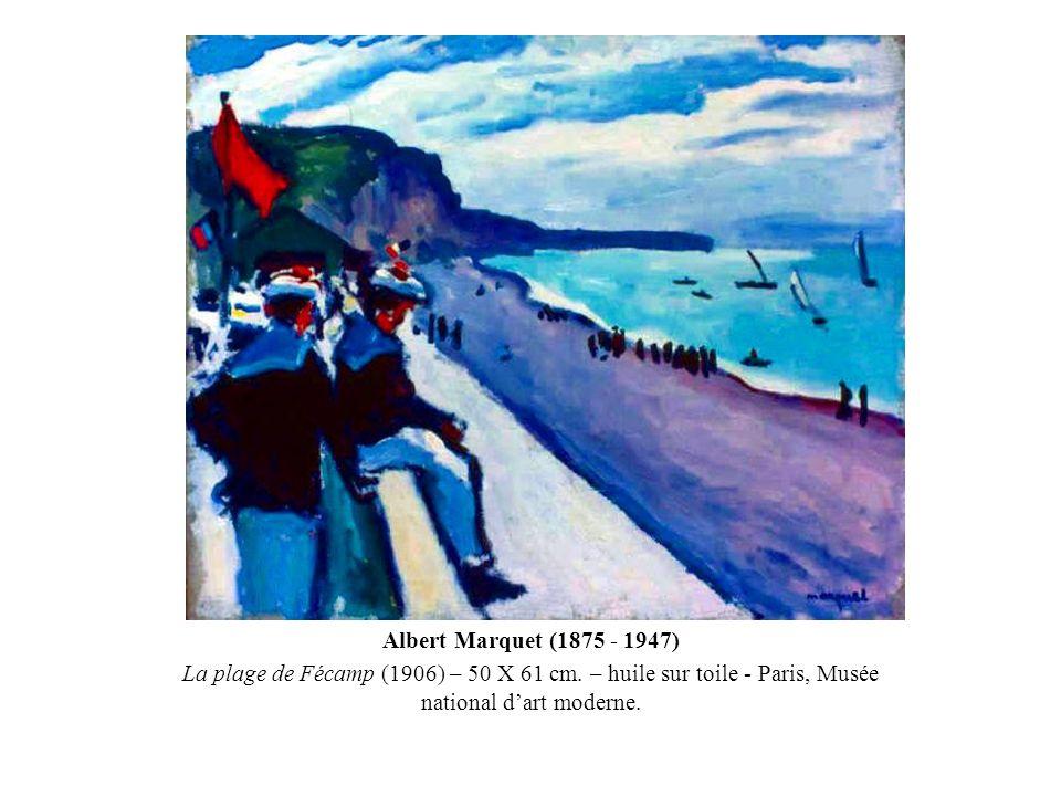 Albert Marquet (1875 - 1947) La plage de Fécamp (1906) – 50 X 61 cm. – huile sur toile - Paris, Musée national dart moderne.