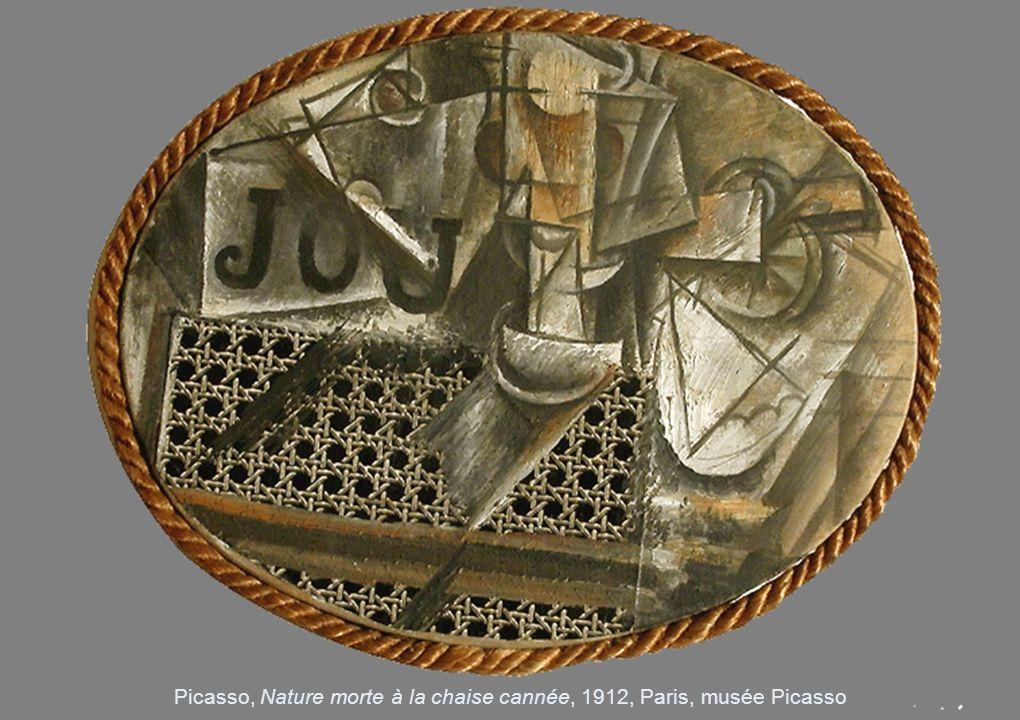 Picasso, Nature morte à la chaise cannée, 1912, Paris, musée Picasso