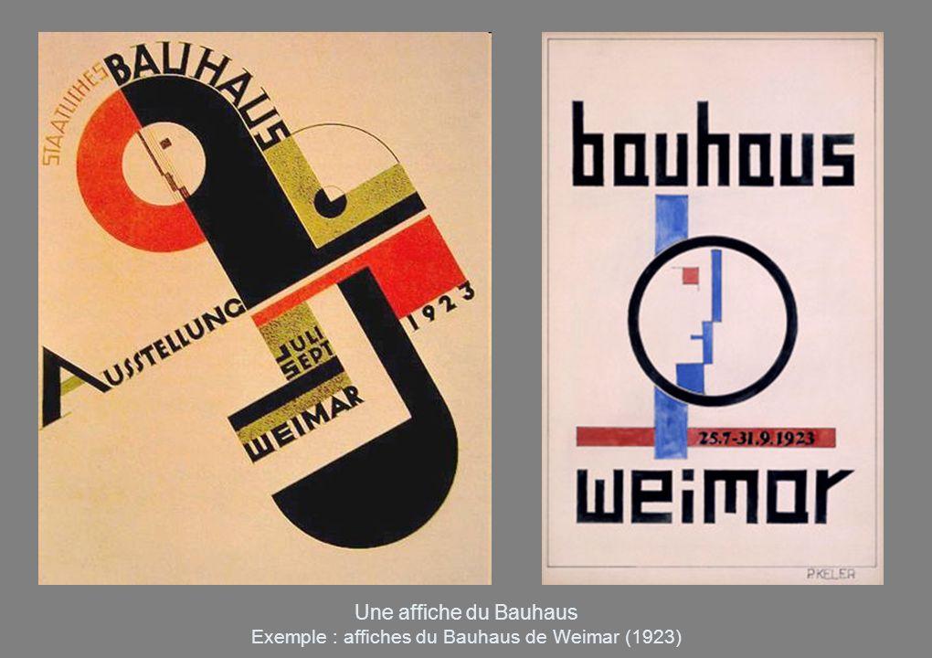 Une affiche du Bauhaus Exemple : affiches du Bauhaus de Weimar (1923)