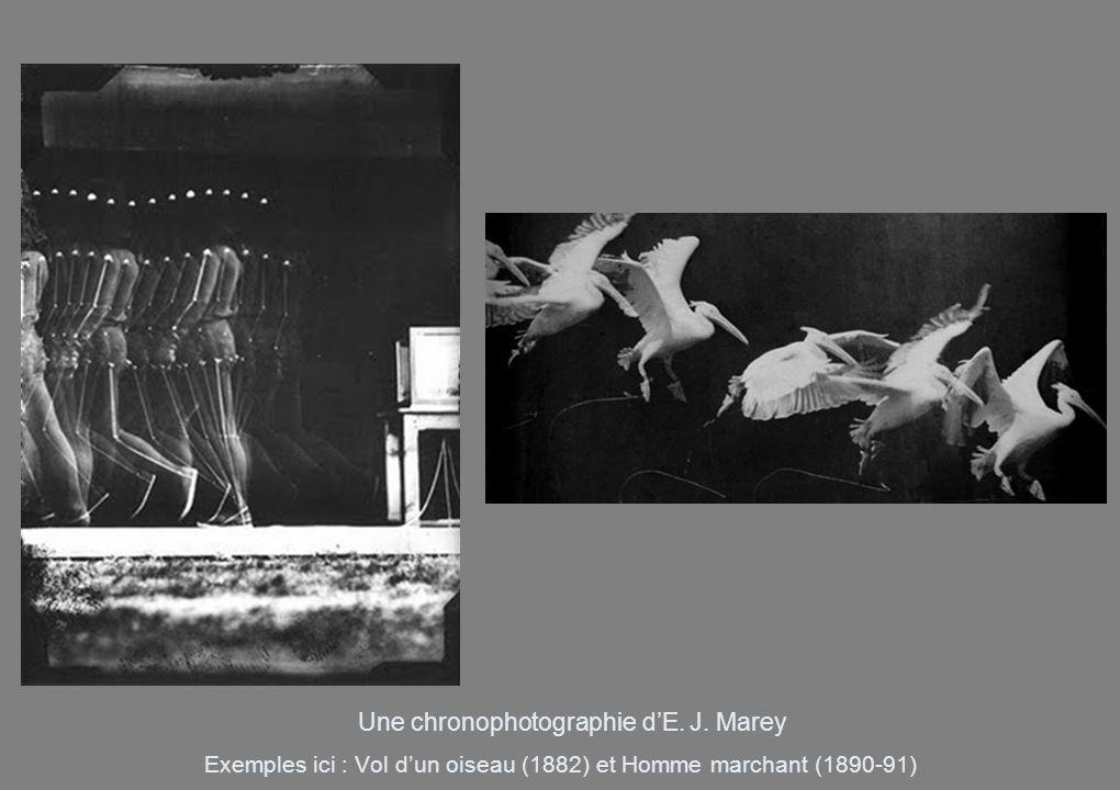 Exemples ici : Vol dun oiseau (1882) et Homme marchant (1890-91) Une chronophotographie dE. J. Marey