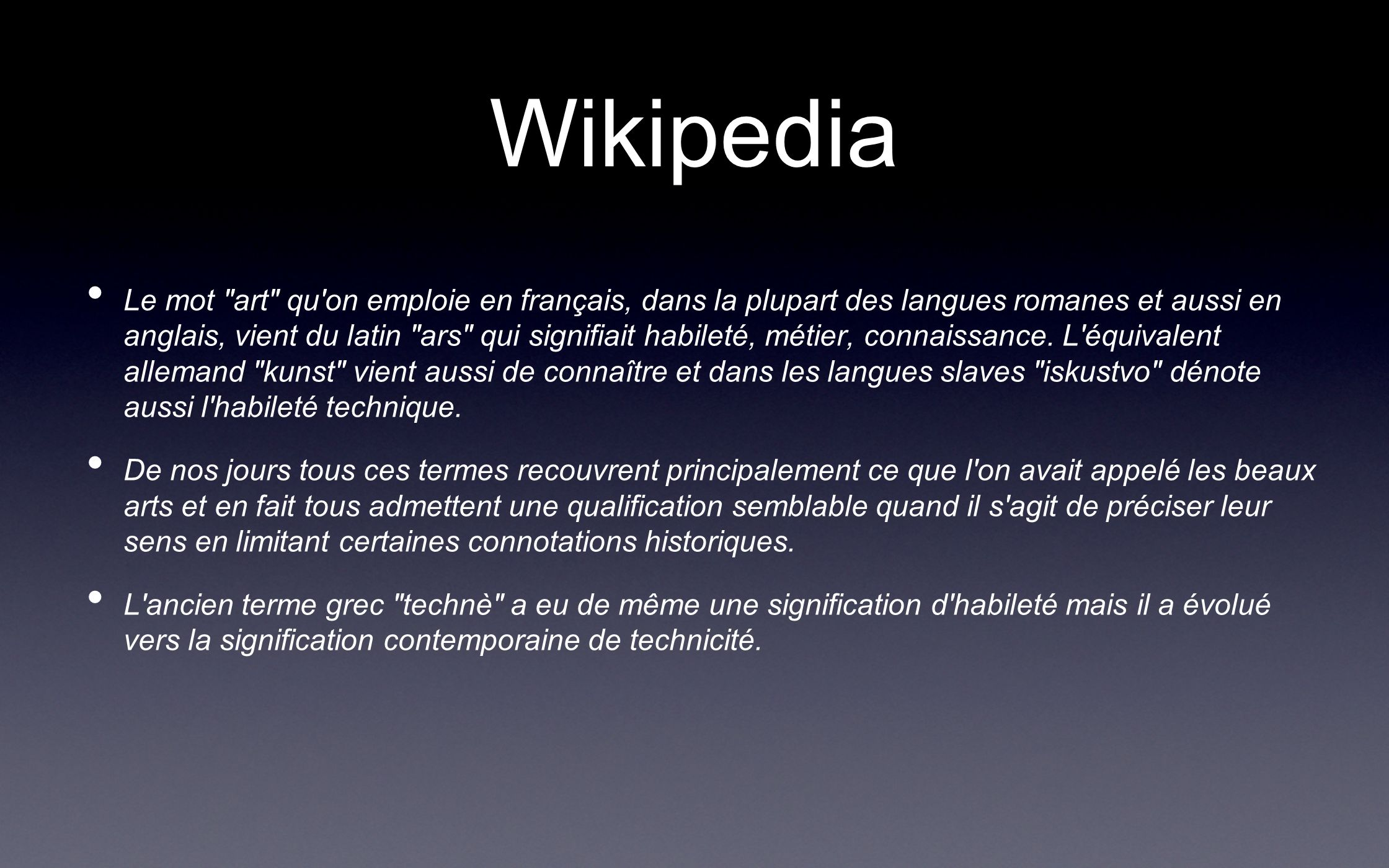 Wikipedia Le mot