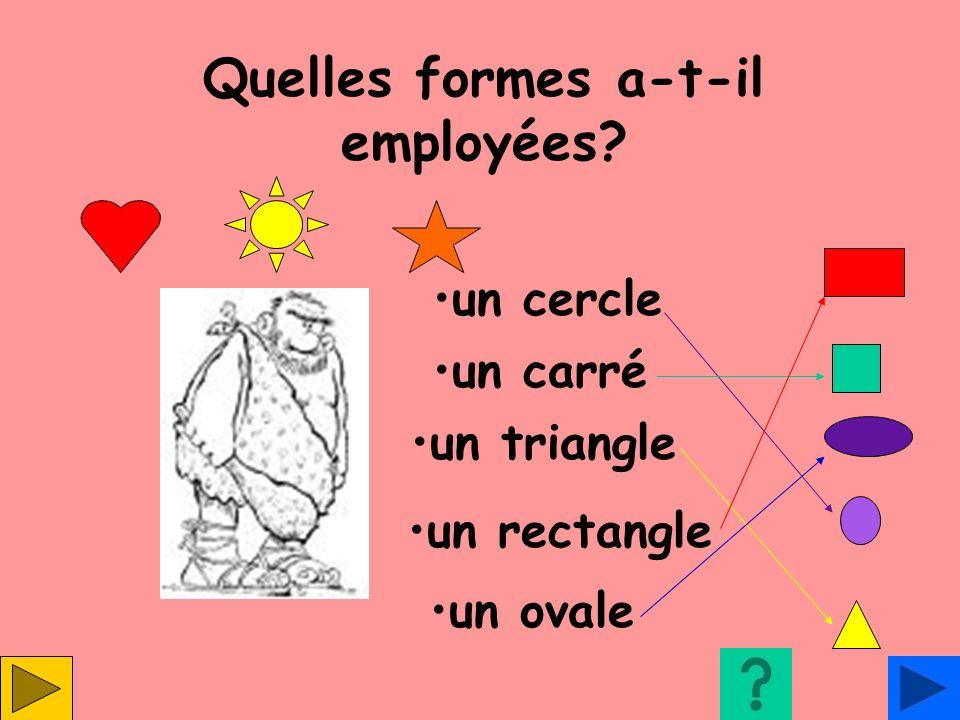 Quelles formes a-t-il employées? un cercle un carré un triangle un rectangle un ovale