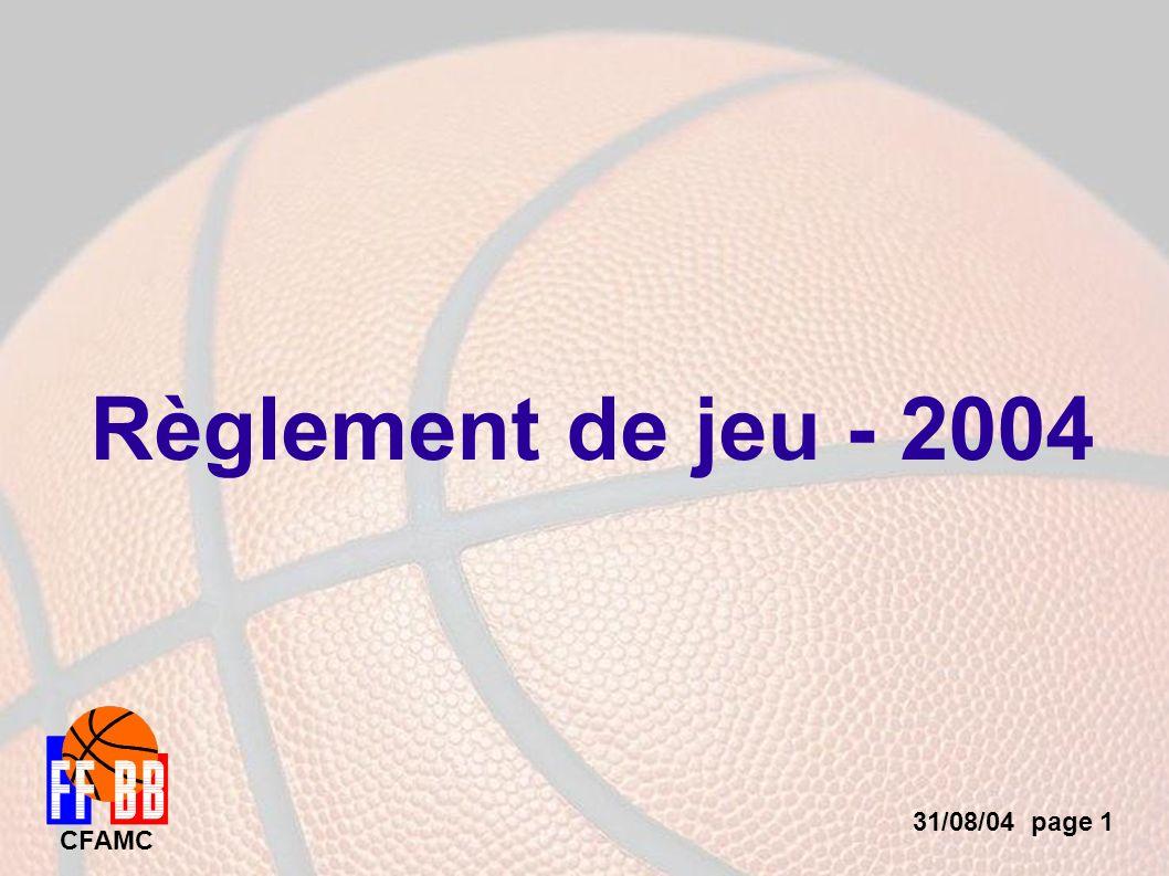 31/08/04 page 1 CFAMC Règlement de jeu - 2004