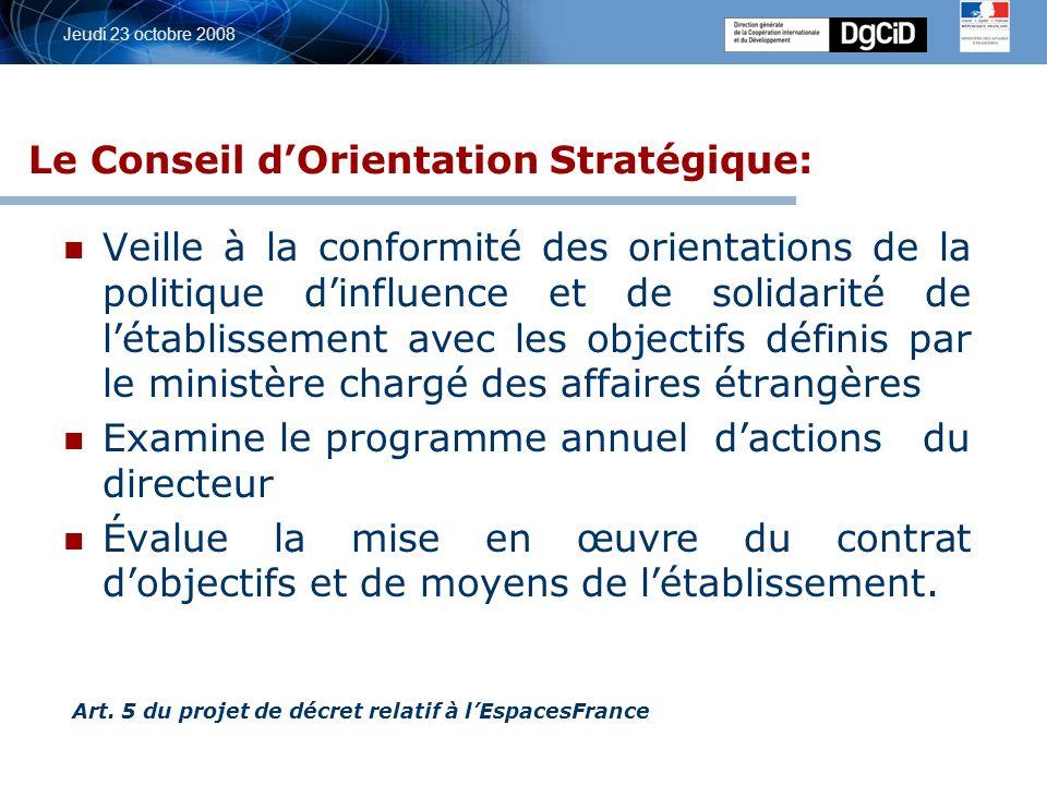 5 octobre 2006 Jeudi 23 octobre 2008 Réseau – programme 209 -