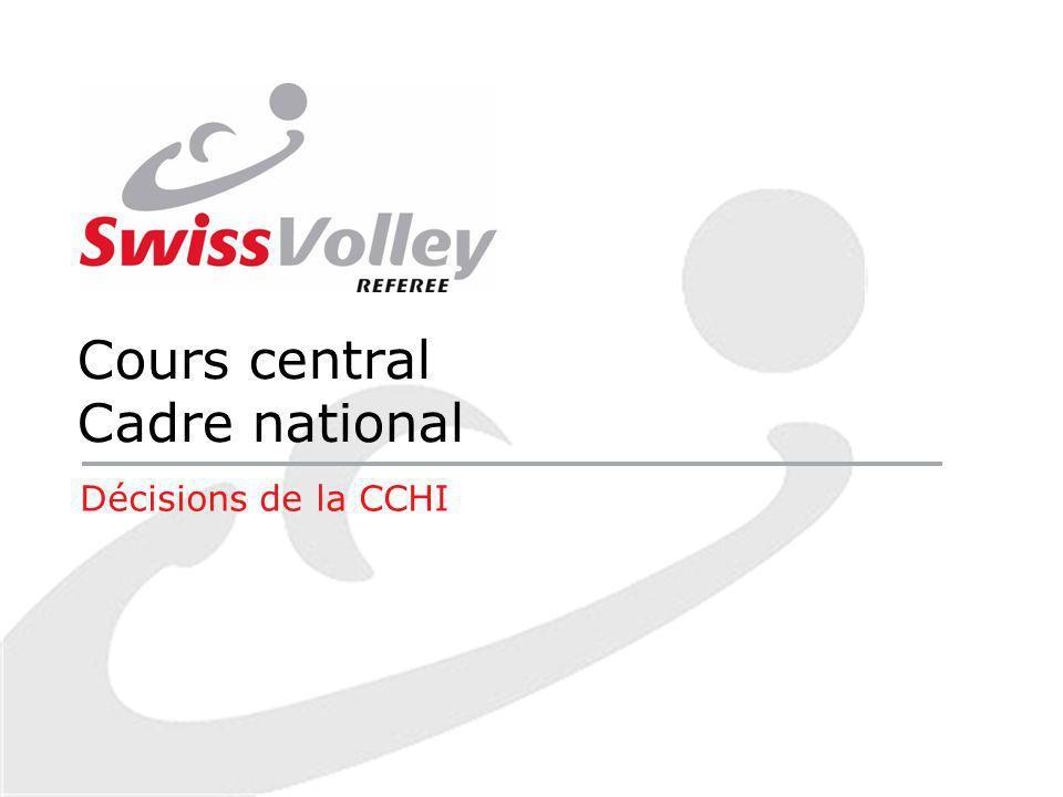 Cours central Cadre national Décisions de la CCHI