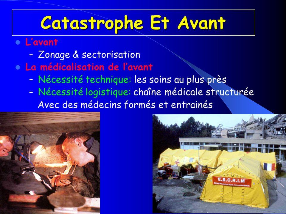 Catastrophe Et Avant Lavant – Zonage & sectorisation La médicalisation de lavant – Nécessité technique: les soins au plus près – Nécessité logistique: