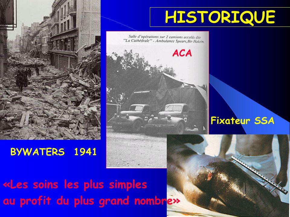 HISTORIQUE BYWATERS 1941 «Les soins les plus simples au profit du plus grand nombre» ACA Fixateur SSA