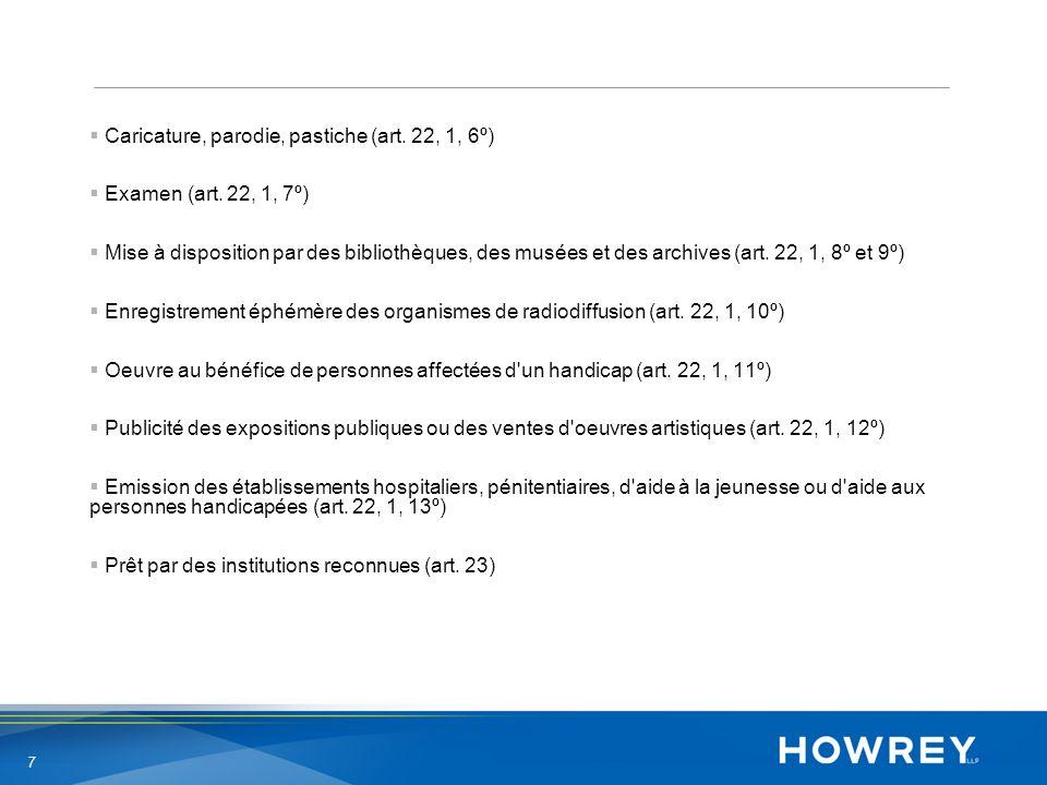 8 Droit dauteur – niveau belge – en part.Pour les bases de données ex.