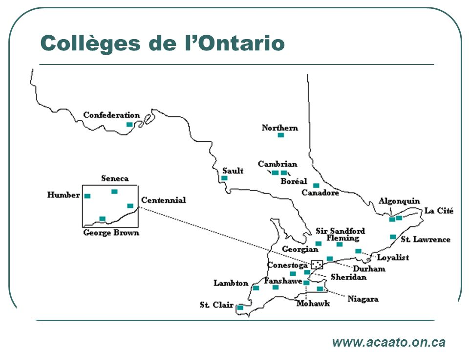 Collèges de lOntario www.acaato.on.ca