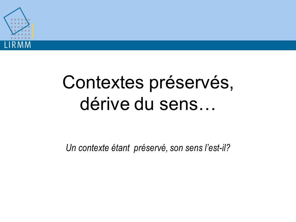 Contextes préservés, dérive du sens… Un contexte étant préservé, son sens lest-il?