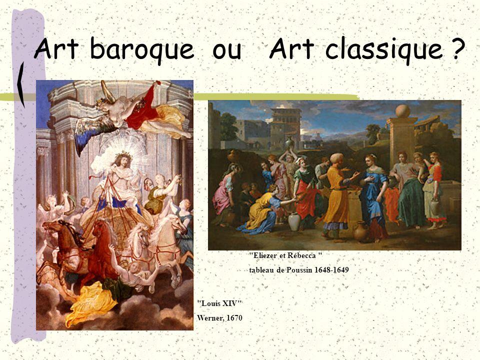 Art baroque ou Art classique ? Maintenant que vous connaissez les différences entre art baroque et art classique, à vous de jouer en essayant de recon
