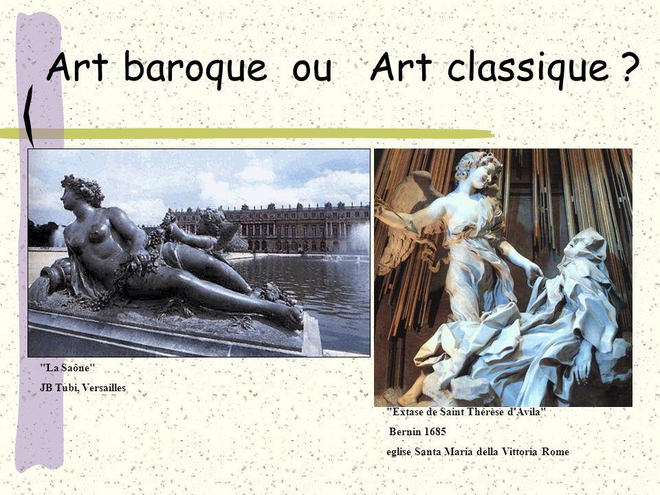 Art baroque ou Art classique ?