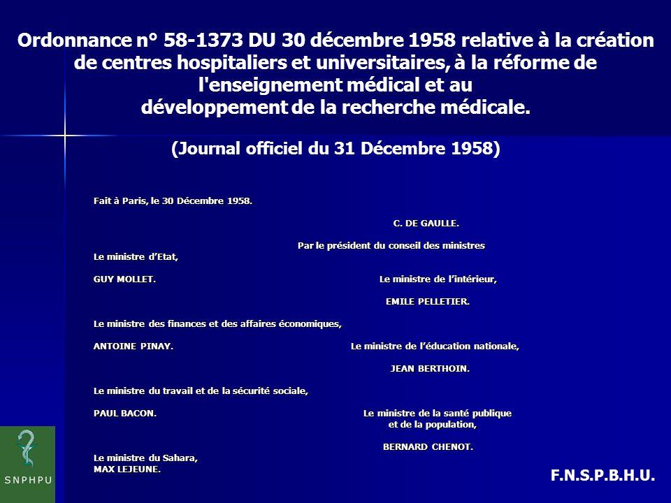 F.N.S.P.B.H.U.Fait à Paris, le 30 Décembre 1958. C.