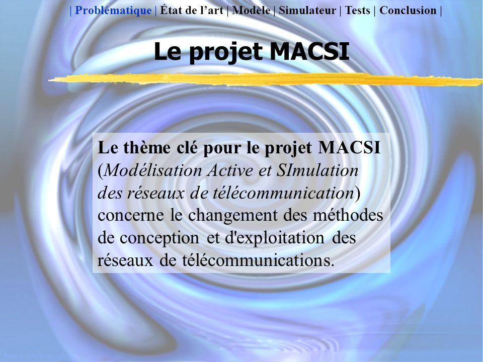 Le projet MACSI Le thème clé pour le projet MACSI (Modélisation Active et SImulation des réseaux de télécommunication) concerne le changement des méthodes de conception et d exploitation des réseaux de télécommunications.
