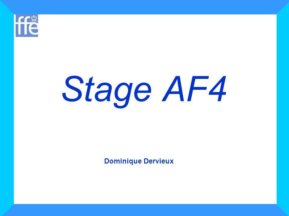 12 Stage AF4 Protocole de Varma Exemple : Votre ligue souhaite organiser un tournoi fermé regroupant les 16 meilleurs joueurs de la Ligue.