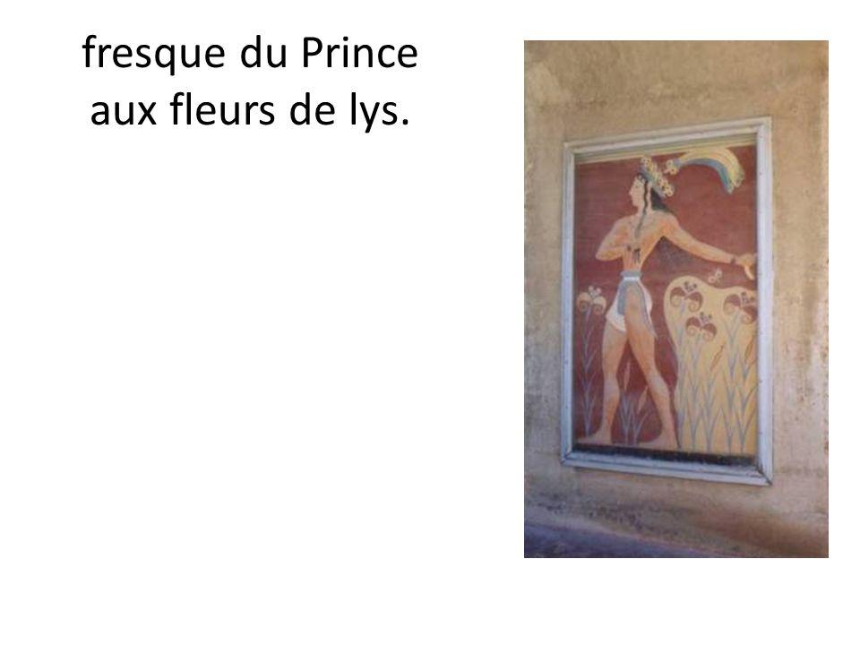 fresque du Prince aux fleurs de lys.