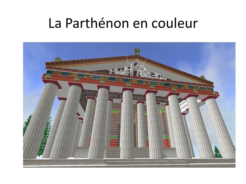 La Parthénon en couleur
