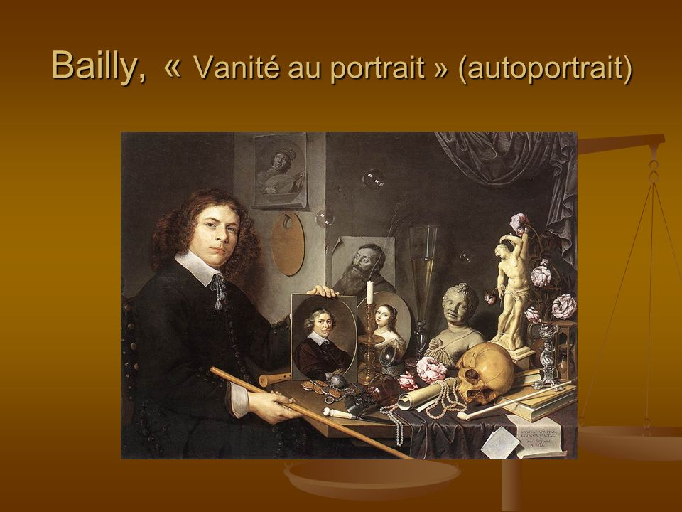 Bailly, « Vanité au portrait » (autoportrait)