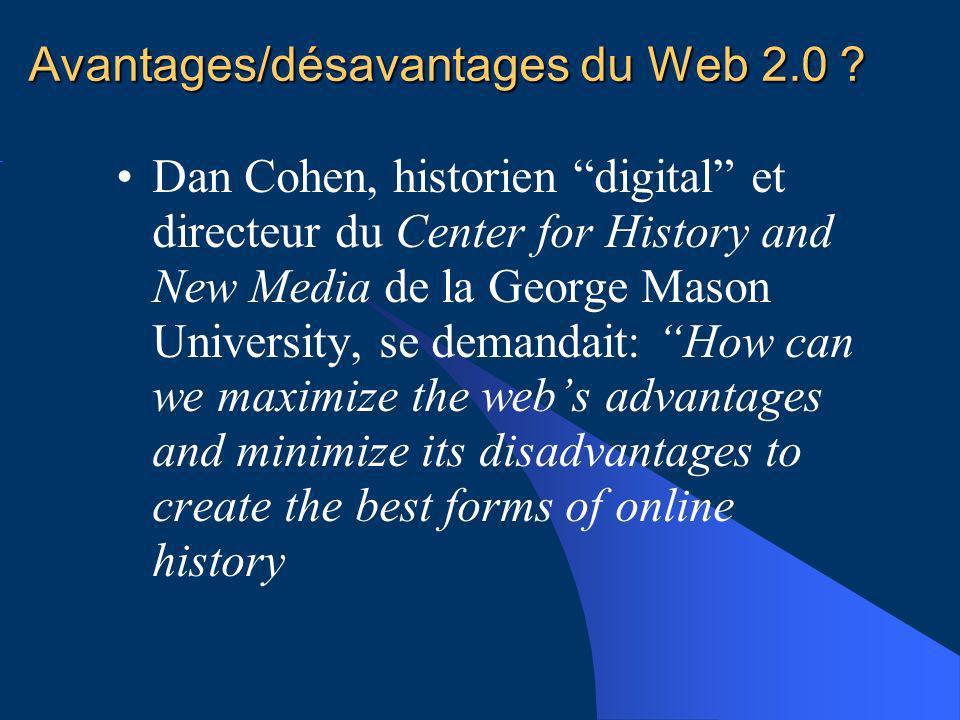 Avantages/désavantages du Web 2.0 .