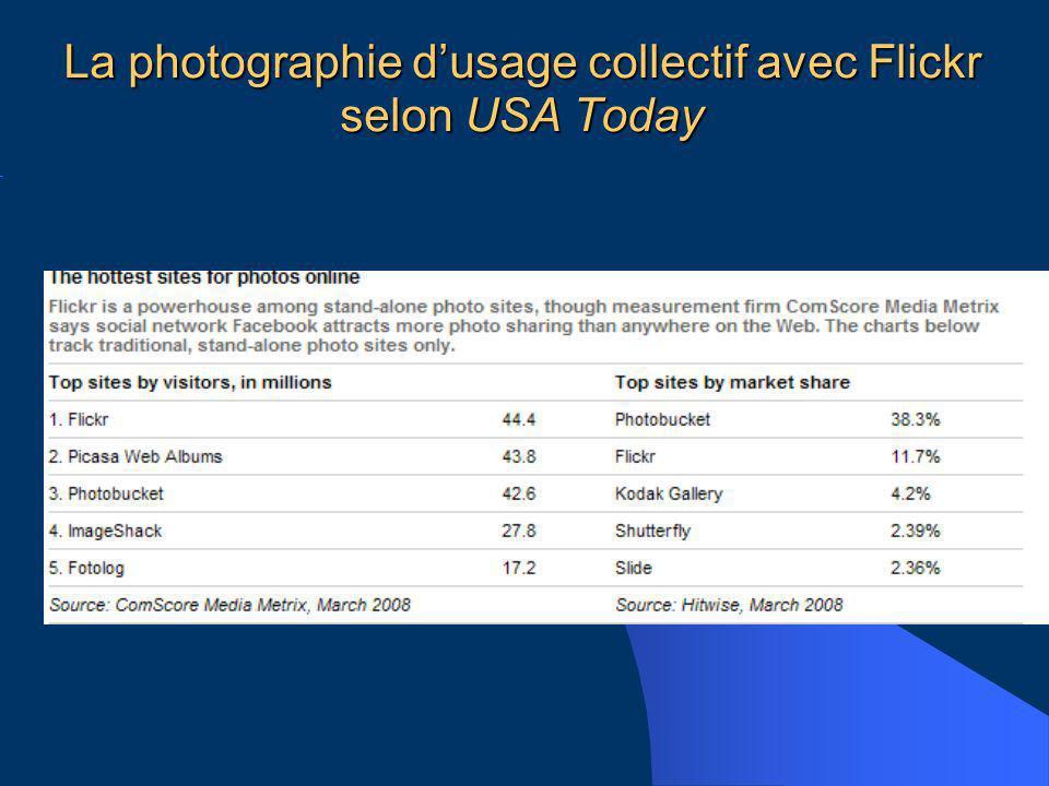 La photographie dusage collectif avec Flickr selon USA Today