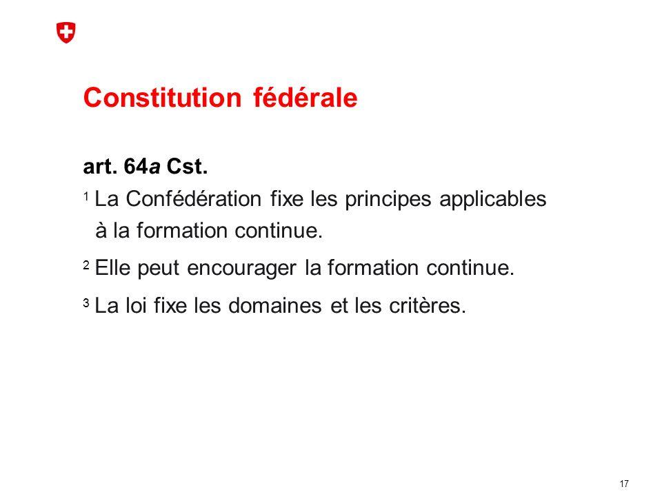 Constitution fédérale art. 64a Cst.