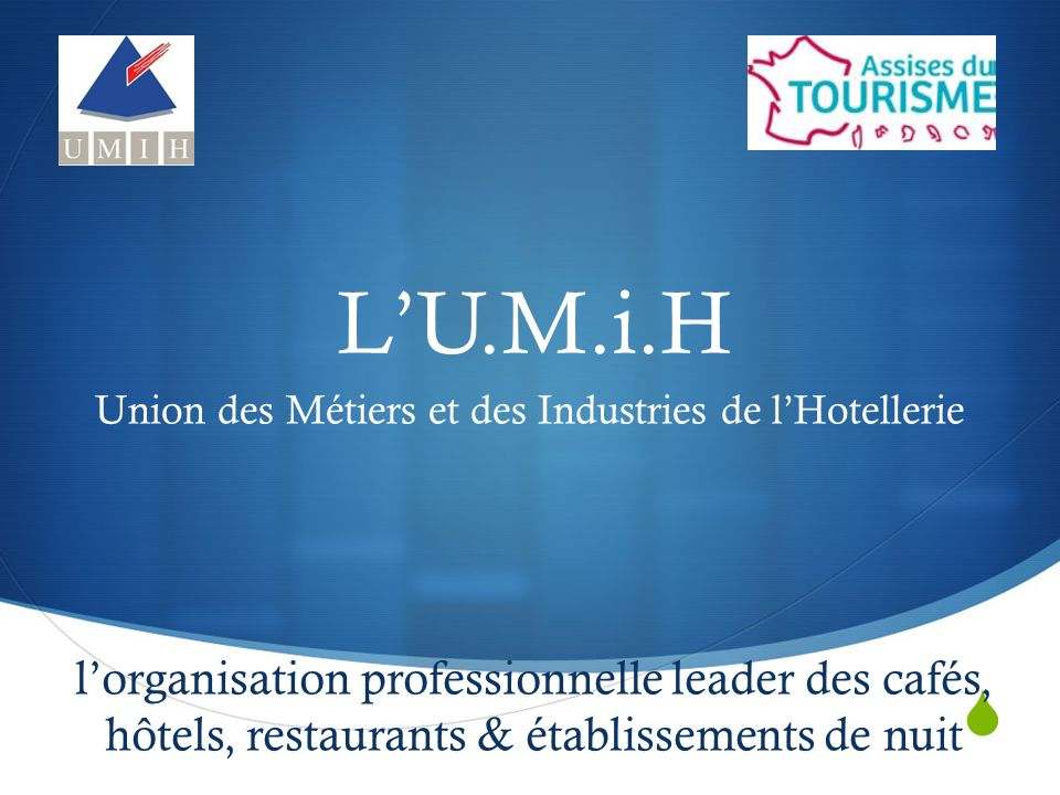 LU.M.i.H lorganisation professionnelle leader des cafés, hôtels, restaurants & établissements de nuit Union des Métiers et des Industries de lHotellerie