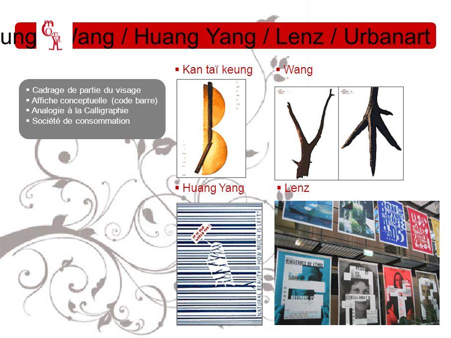 Kan Taï Keung / Wang / Huang Yang / Lenz / Urbanart Huang Yang Lenz Kan taï keung Wang Cadrage de partie du visage Affiche conceptuelle (code barre) A