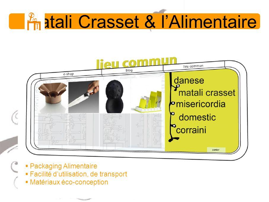 Matali Crasset & lAlimentaire Packaging Alimentaire Facilité dutilisation, de transport Matériaux éco-conception