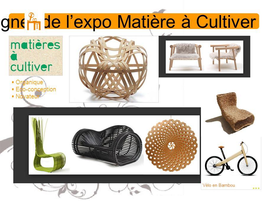 Designer de lexpo Matière à Cultiver Organique Eco-conception Novateur Vélo en Bambou