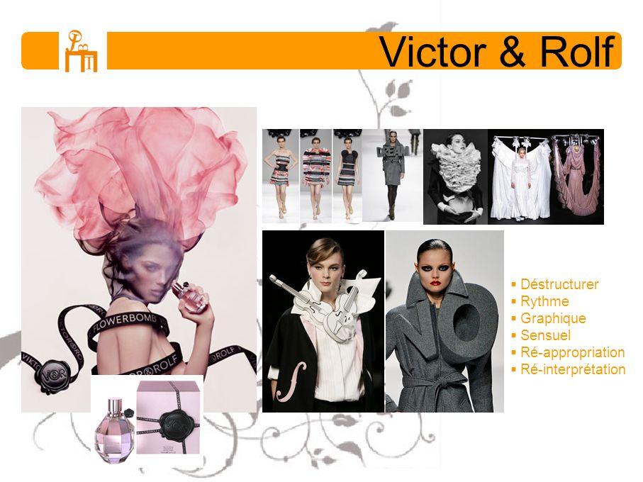 Victor & Rolf Déstructurer Rythme Graphique Sensuel Ré-appropriation Ré-interprétation