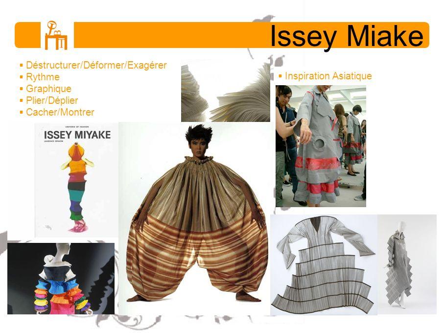 Issey Miake Déstructurer/Déformer/Exagérer Rythme Graphique Plier/Déplier Cacher/Montrer Inspiration Asiatique