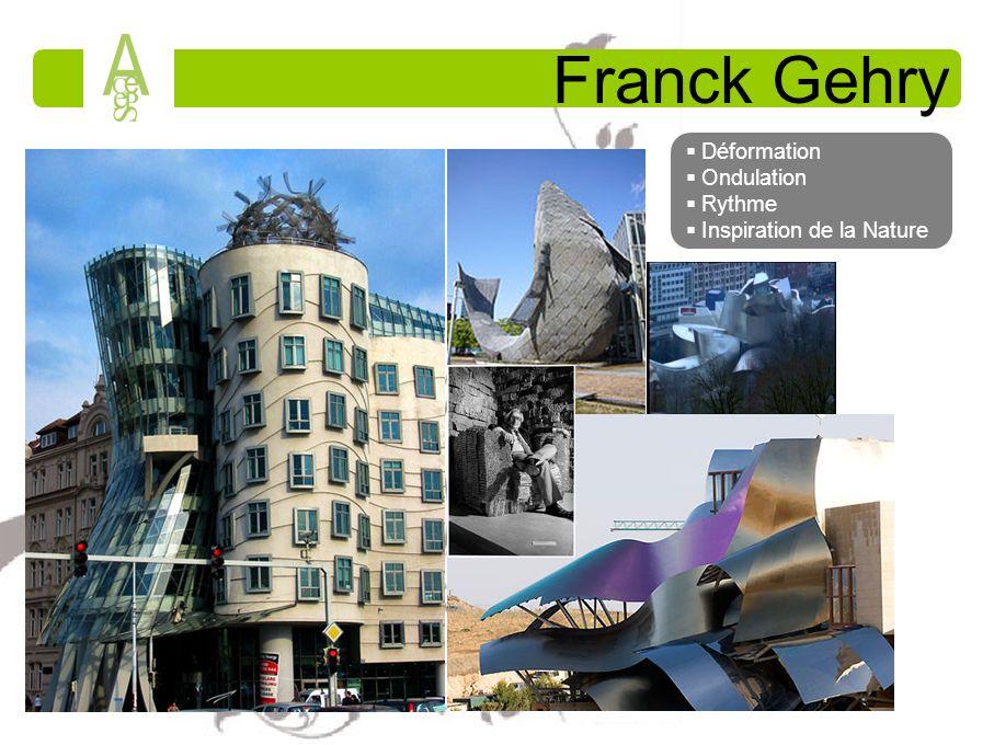 Franck Gehry Déformation Ondulation Rythme Inspiration de la Nature