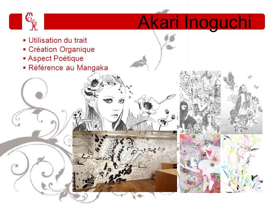 Akari Inoguchi i Utilisation du trait Création Organique Aspect Poétique Référence au Mangaka