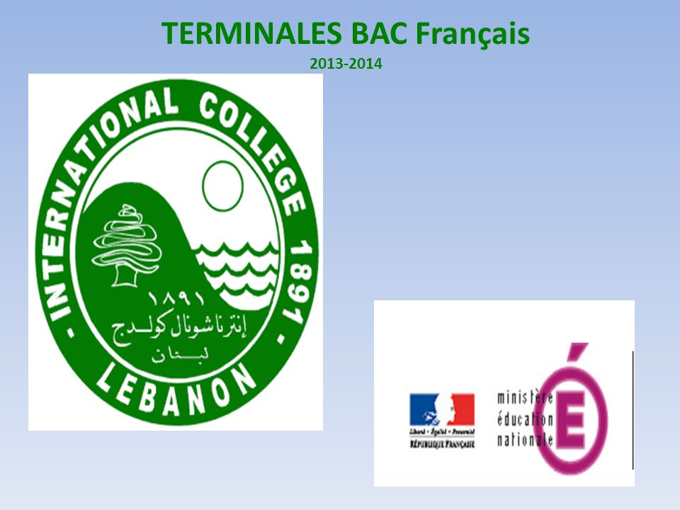 TERMINALES BAC Français 2013-2014