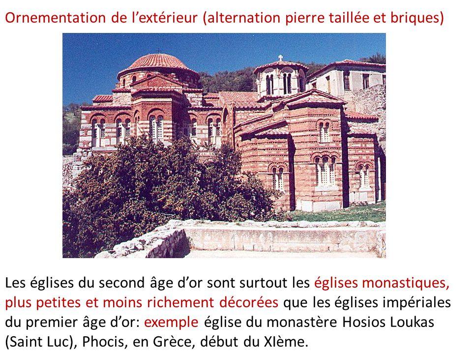 Les églises du second âge dor sont surtout les églises monastiques, plus petites et moins richement décorées que les églises impériales du premier âge