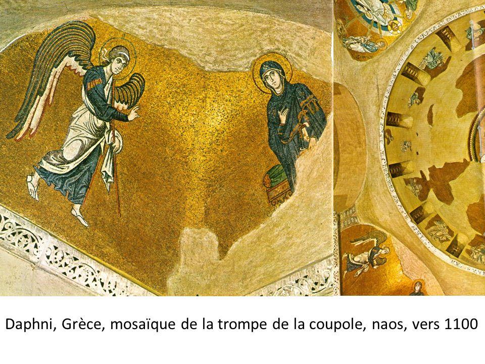 Daphni, Grèce, mosaïque de la trompe de la coupole, naos, vers 1100