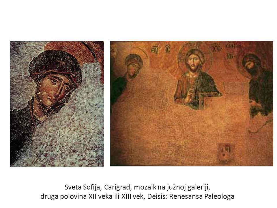 Sveta Sofija, Carigrad, mozaik na južnoj galeriji, druga polovina XII veka ili XIII vek, Deisis: Renesansa Paleologa