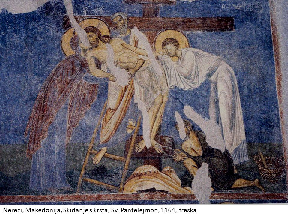 Nerezi, Makedonija, Skidanje s krsta, Sv. Pantelejmon, 1164, freska