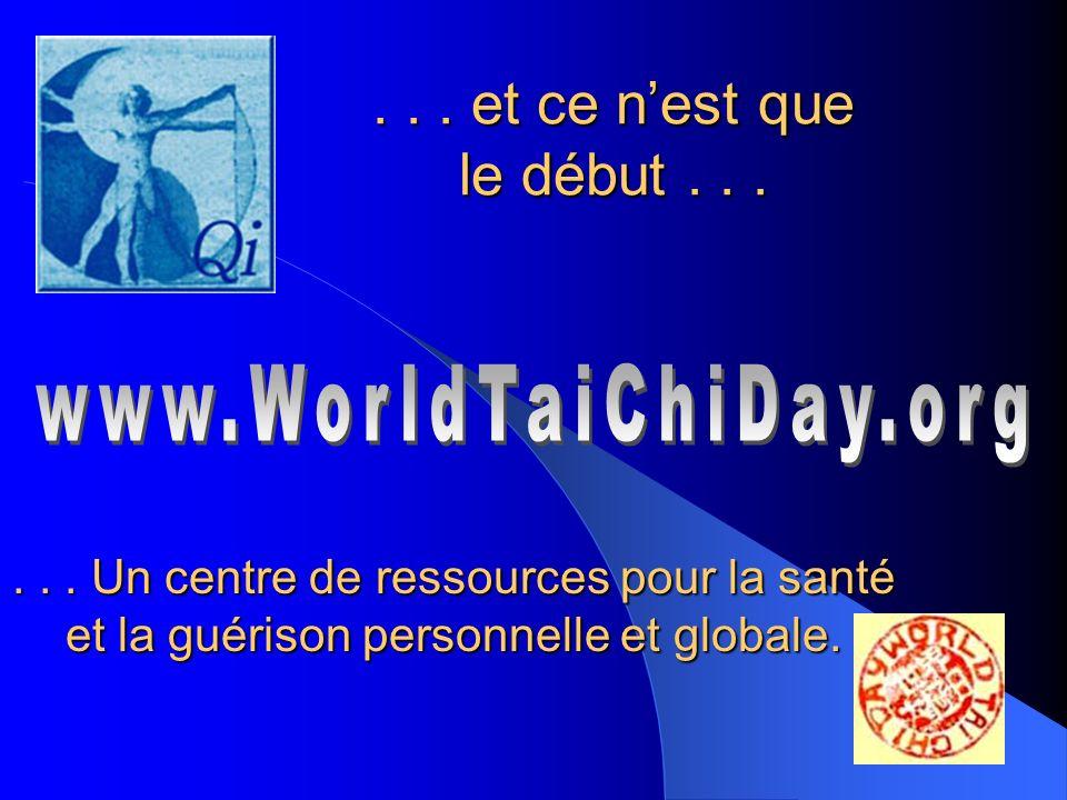 La Journée mondiale de Tai Chi et de Qigong est maintenant célébrée dans 60 pays à travers le monde, sur 6 continents le dernier samedi du mois davril de chaque année