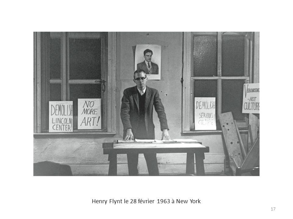 Henry Flynt le 28 février 1963 à New York 17