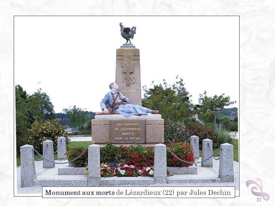 27 Monument aux morts de Lézardieux (22) par Jules Dechin