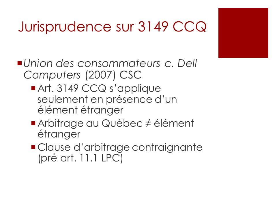 Jurisprudence sur 3149 CCQ Union des consommateurs c.