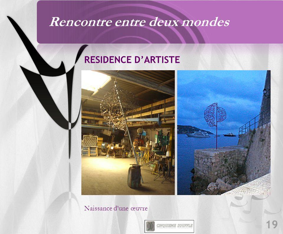 19 RESIDENCE DARTISTE Naissance dune œuvre Rencontre entre deux mondes