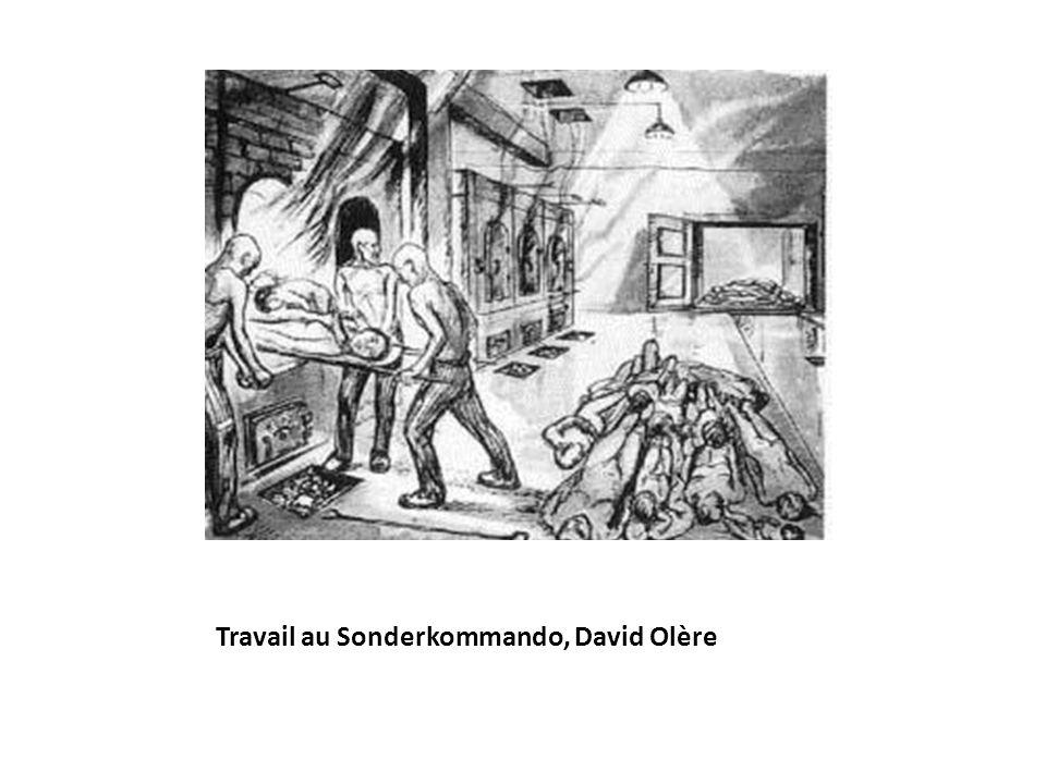 Travail au Sonderkommando, David Olère